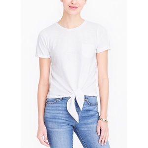 J. Crew Factory Tie-waist pocket T-shirt Tee